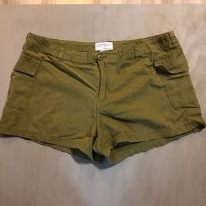 Pacific Girl Olive Green Cargo Hip Shorts XL